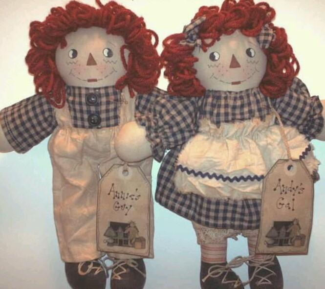 Raggedy Love 2-Doll Set